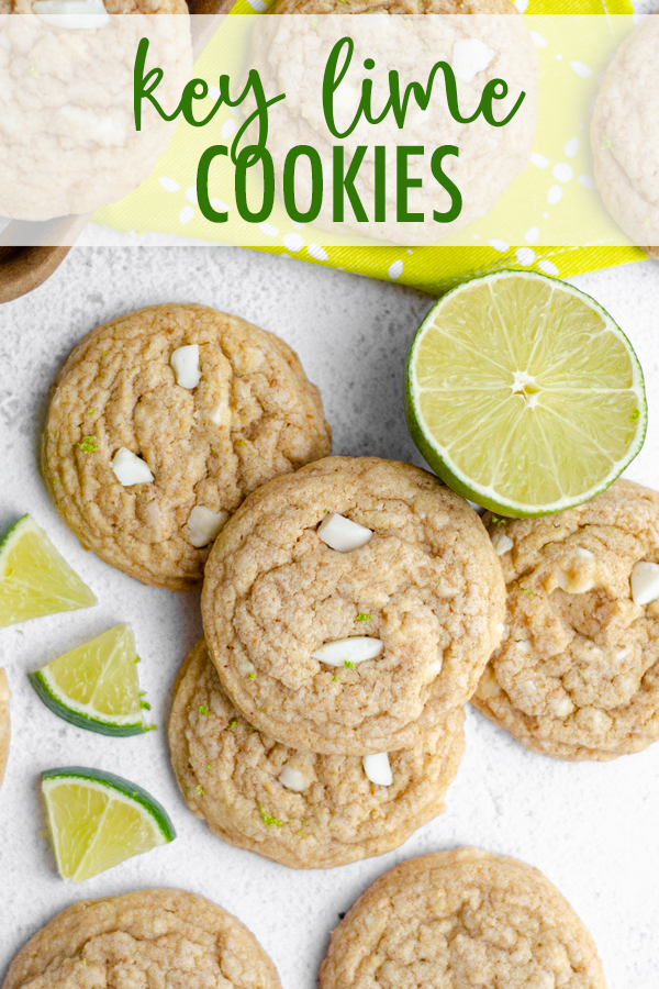 Easy drop cookies bursting with tangy Key lime juice, crunchy graham cracker crumbs, and creamy white chocolate.