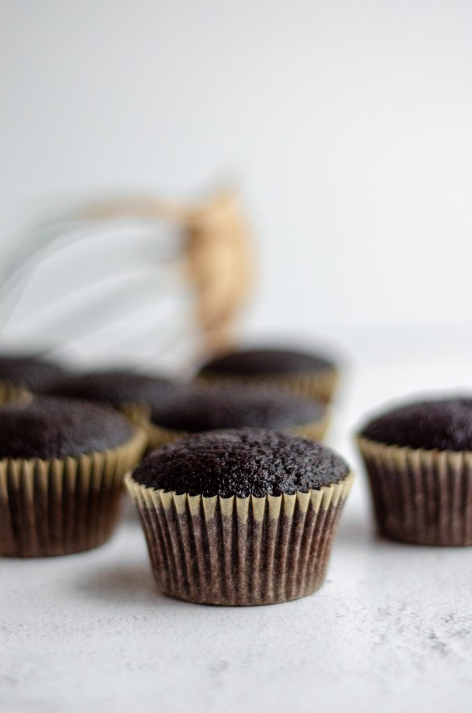 Simple Chocolate Cupcakes with Chocolate Swiss Meringue Buttercream: My go-to simple chocolate cupcakes are fluffy, moist, and don't even require a mixer. Top them with a velvety smooth chocolate Swiss meringue buttercream (or pair with another favorite) for a simple yet impressive little cupcake!