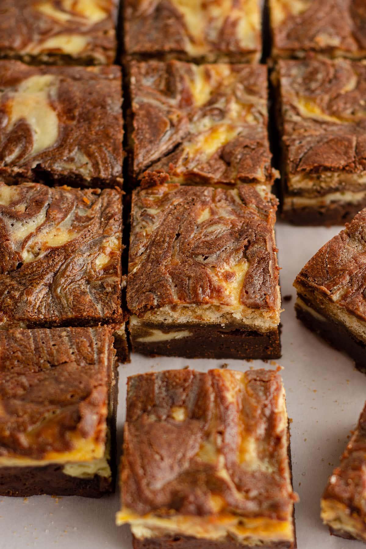 sliced tiramisu brownies