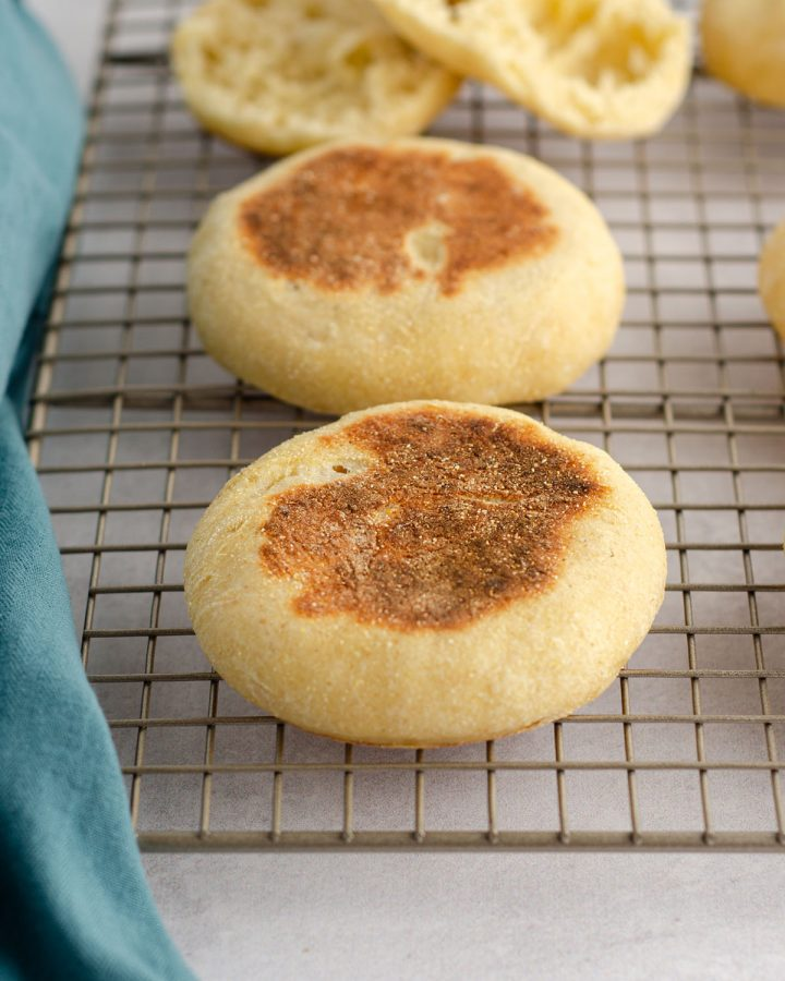 Sourdough English Muffins: Put that sourdough starter to good use and make your own sourdough English muffins from scratch, with all the nooks and crannies you love about the store-bought ones!