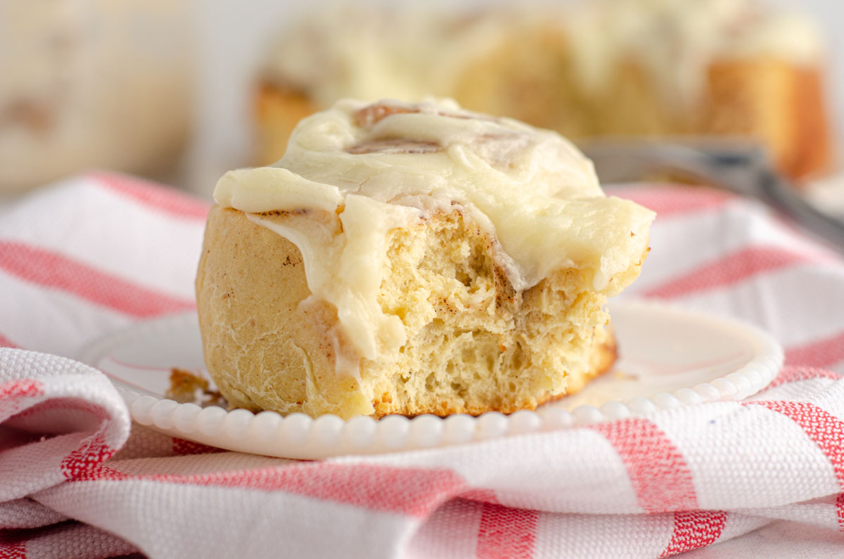 Sourdough Cinnamon Rolls: Learn how to make cinnamon rolls with sourdough starter-- simple, small batch cinnamon rolls made without yeast, filled with sweet cinnamon filling, and topped with an easy cream cheese frosting.