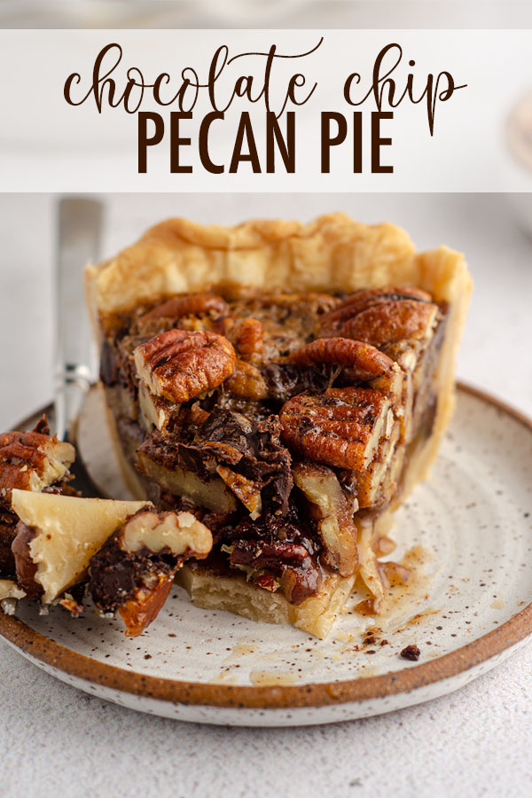 Traditional pecan pie gets a chocolate overhaul with chocolate chips and/or chopped chocolate. This sweet and salty combo is perfect with a scoop of ice cream or a dollop of whipped cream.