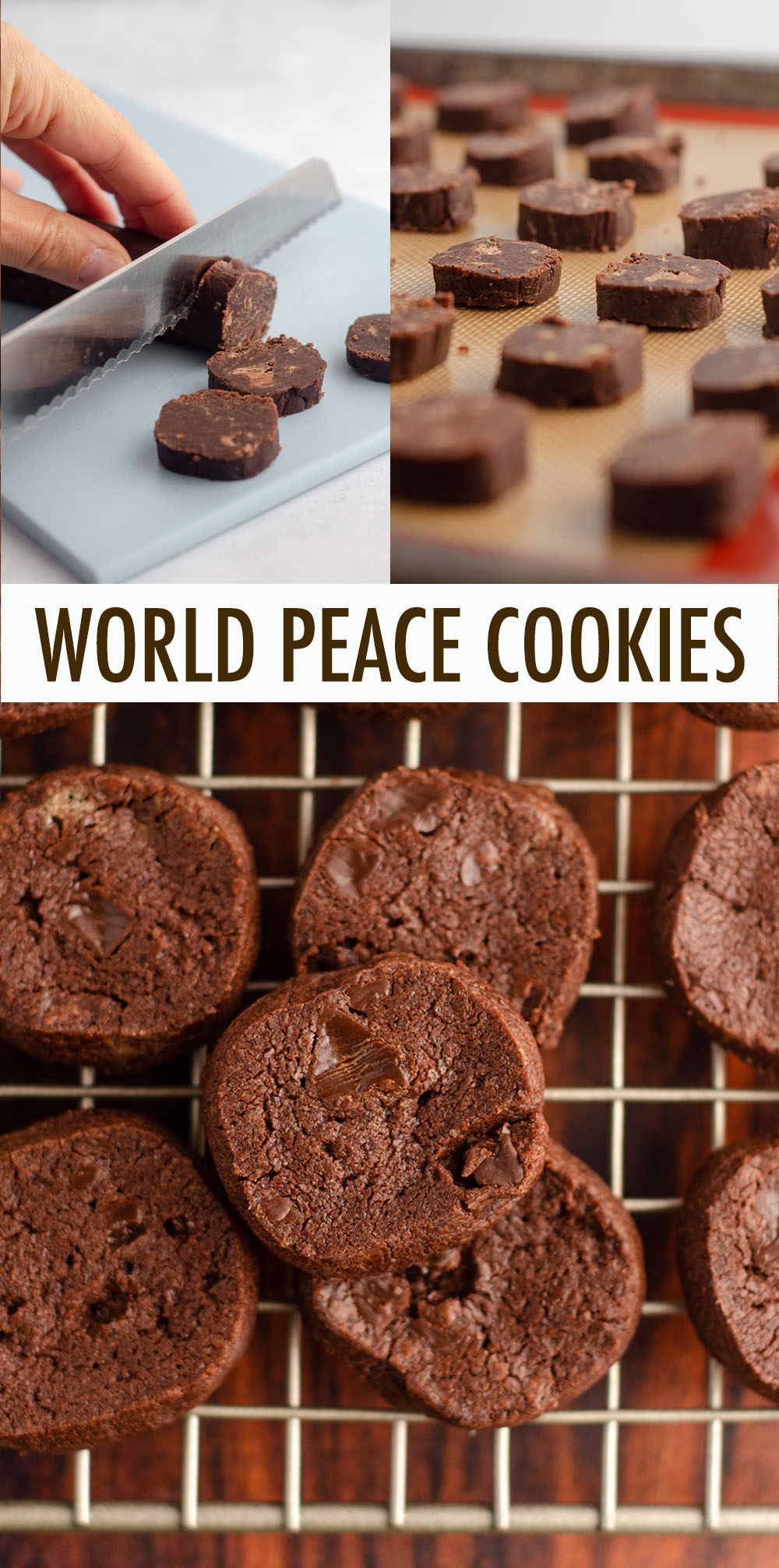 A buttery, salted chocolate shortbread cookie, simplified by the slice and bake method.
