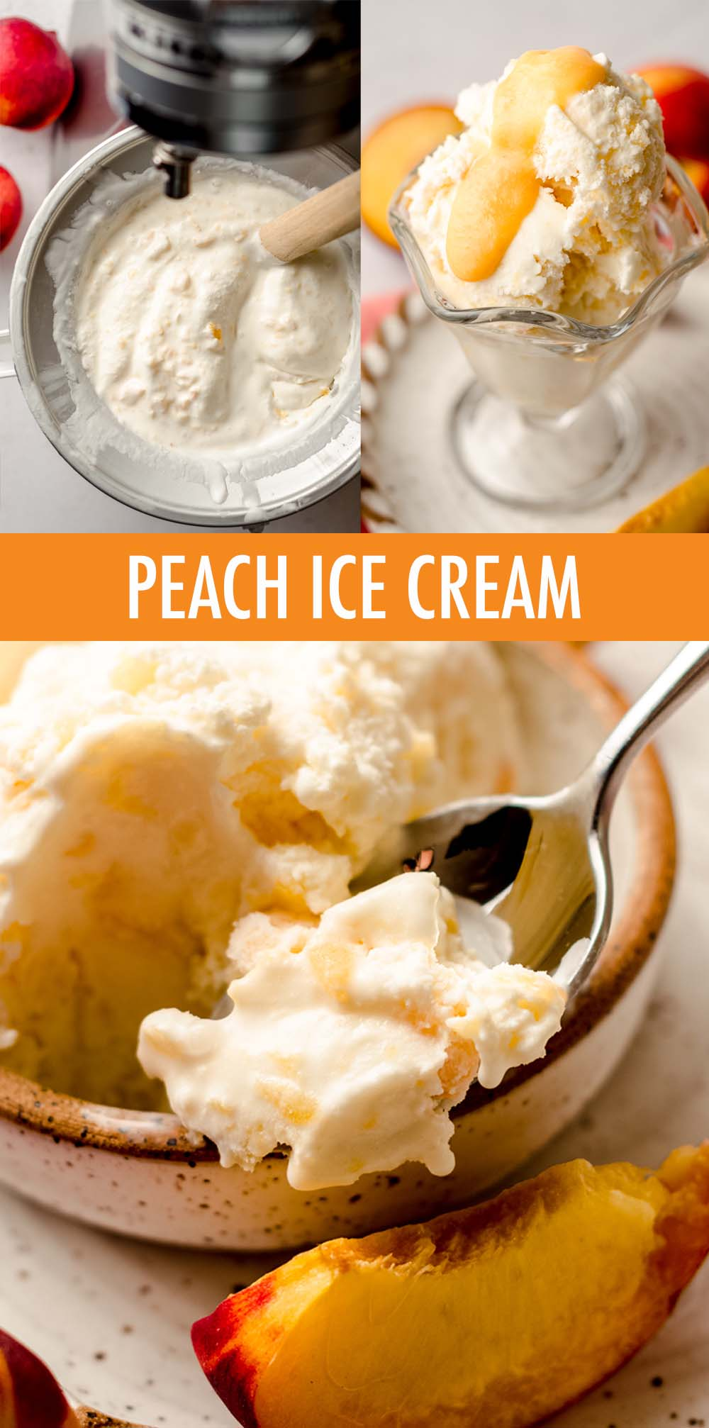 Learn how to make homemade peach ice cream using fresh peaches, a few basic ingredients, and your ice cream maker.